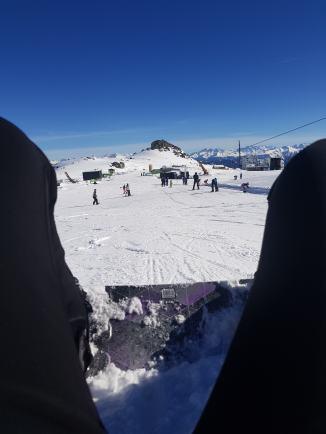 laax snowboarding day