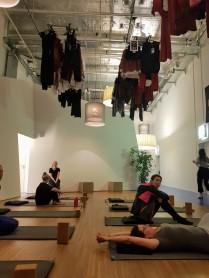 Lola Fred yoga studio - just before class