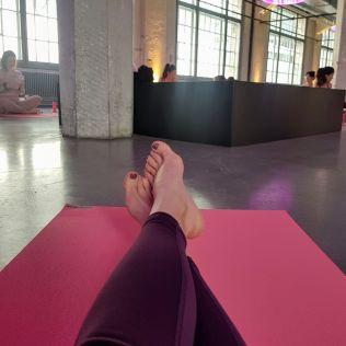 Pink Ribbon yoga session - my mat