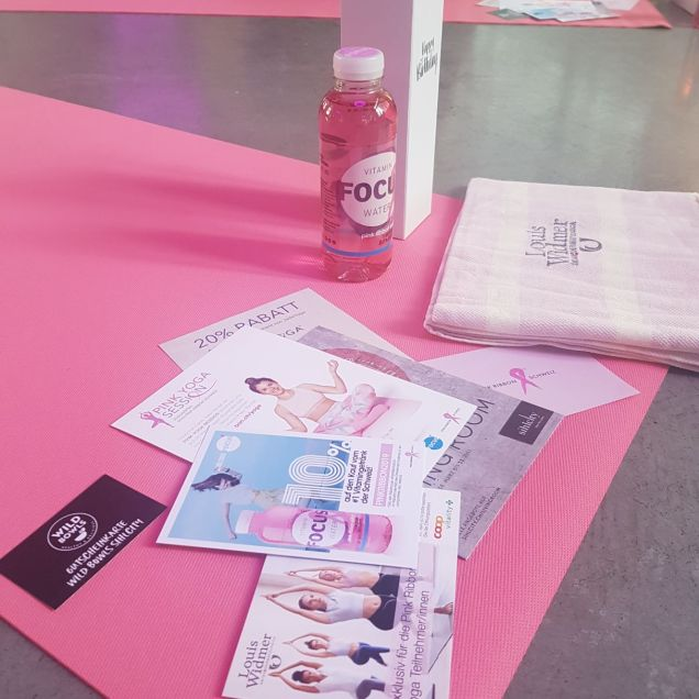 Pink Ribbon yoga session - the goodies