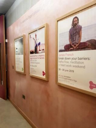 Triyoga London Shoreditch - Hallway posters