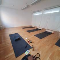 Yoga Nidra with Gina - View of the practice room